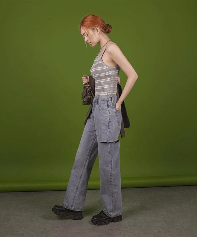 Rookie Cut Wide Denim Pants