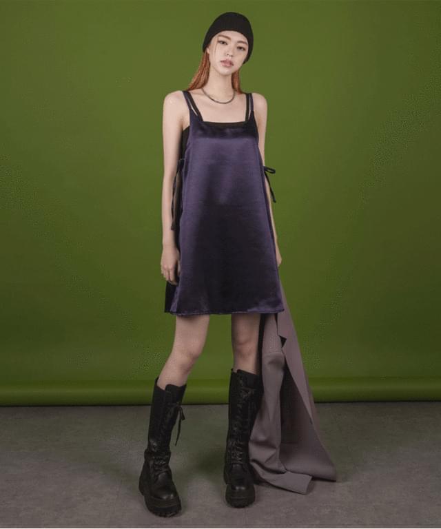 Cella satin bustier mini Dress