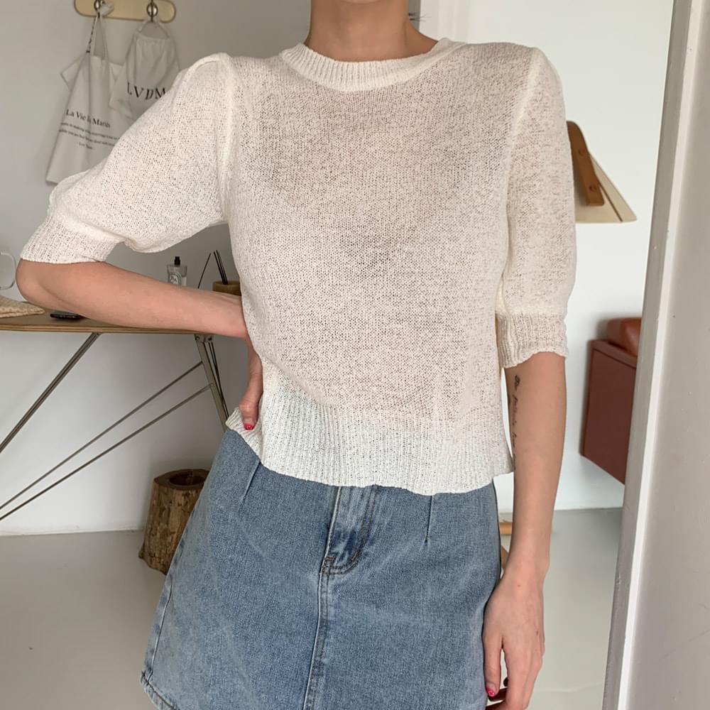 Emma Sheer Short Sleeve Knitwear