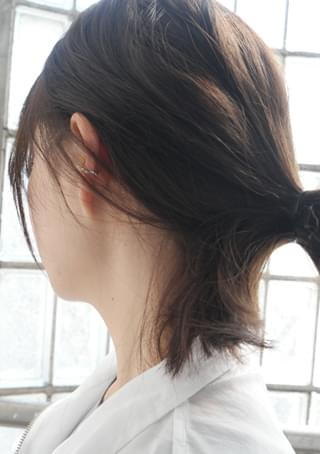emboss natural ear-cuff