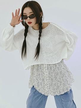 Loose-fit Belle Crop Knitwear