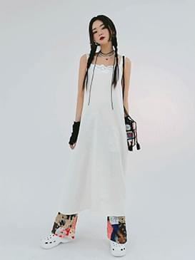 Lace Seamy Long Dress
