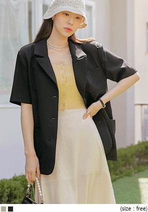 Boxy Half Sleeve Jacket