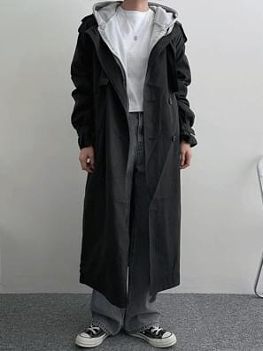 Detail Trench Long Coat