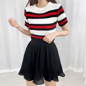 Lara chiffon pleated banding skirt
