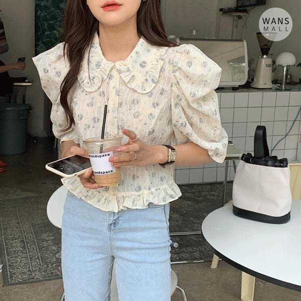 bl4305 riachu pattern blouse (Delayed delivery)