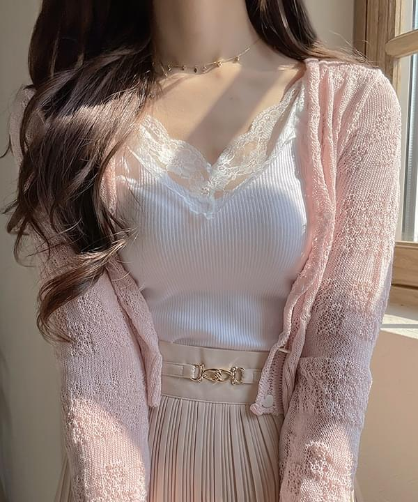 Glam Lace Sleeveless t 3color