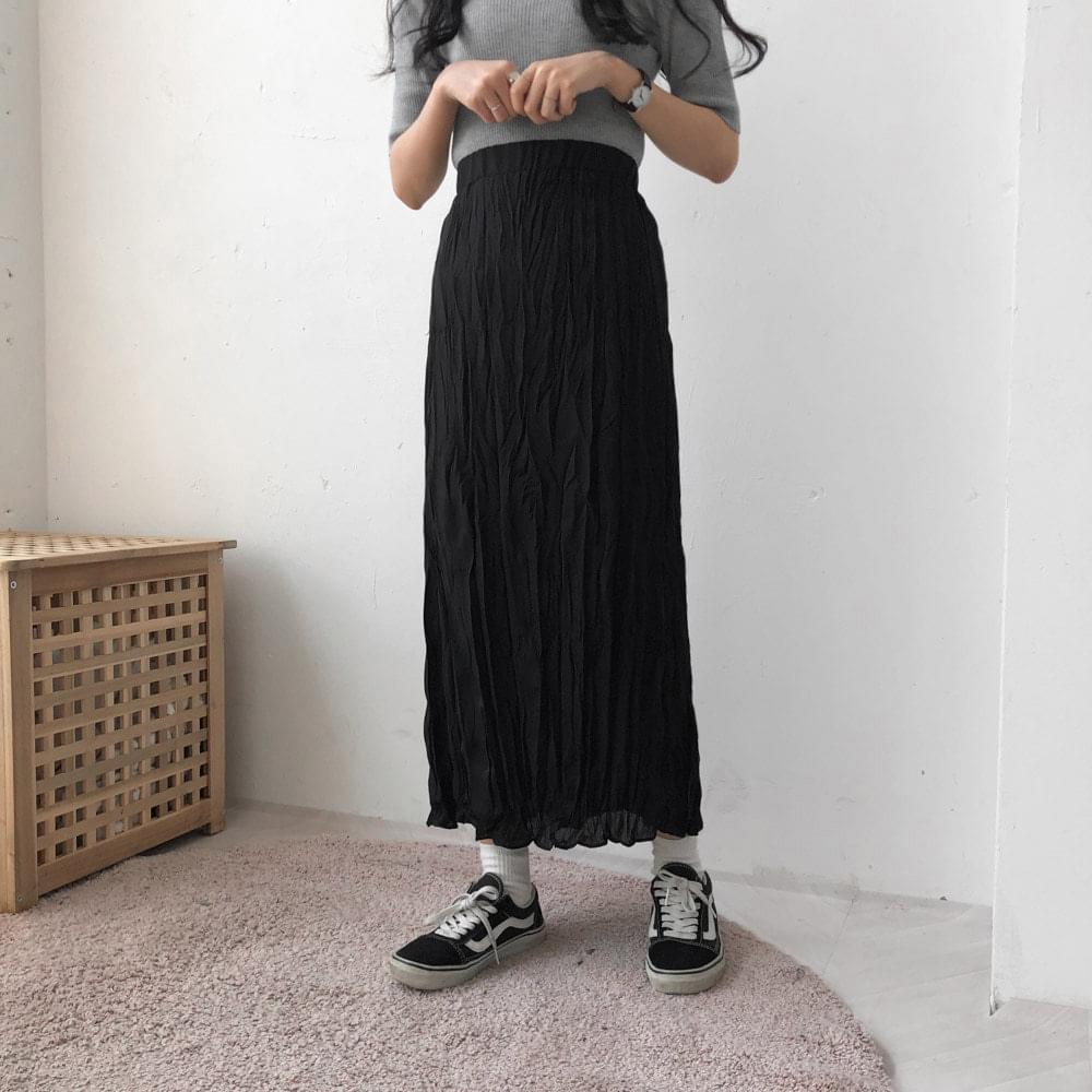 Goddess pleated long skirt