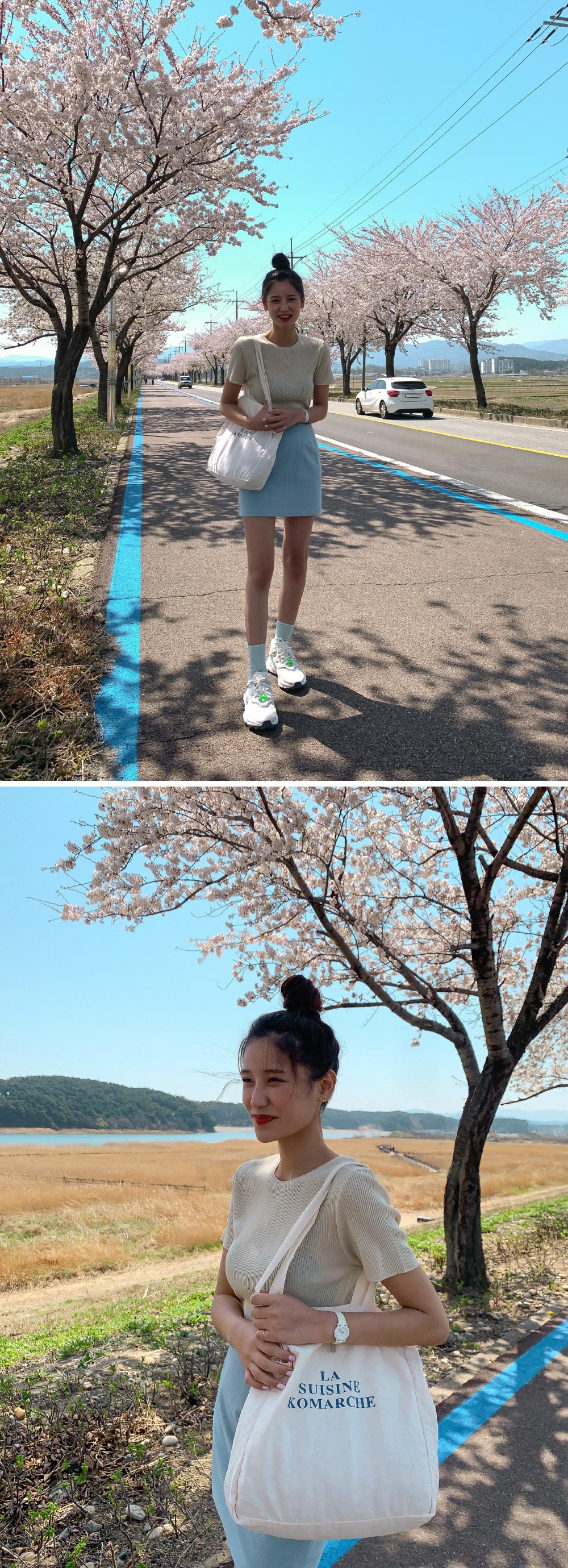High waist H line mini skirt