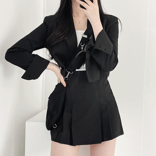 Bato crop jacket + skirt set