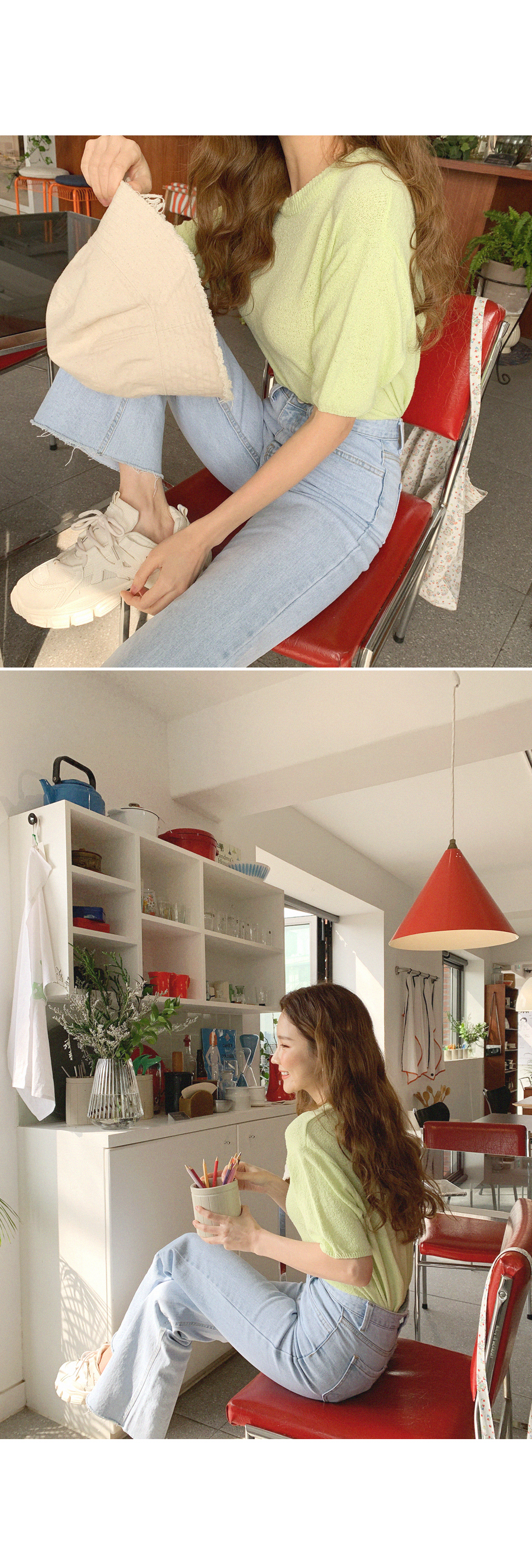 Color Short Sleeve Knitwear
