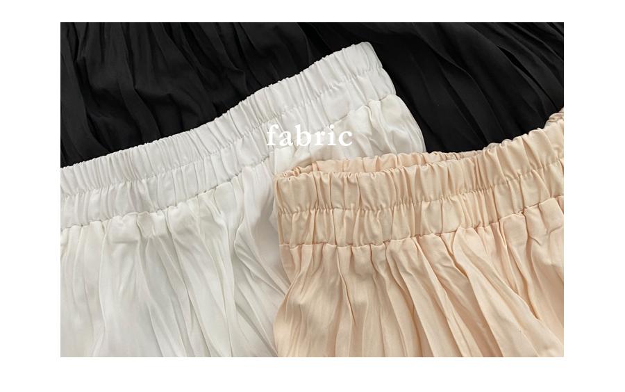 Eti pleated long skirt