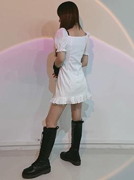 Strap poa mini Dress
