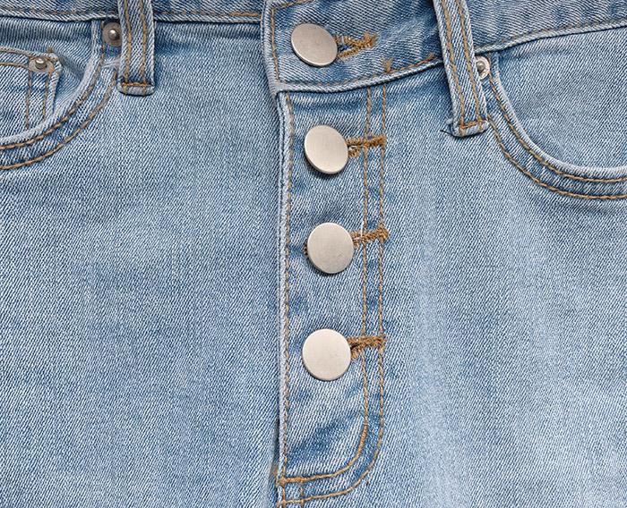 Cat's Four Buttons Unfoot Split Skinny