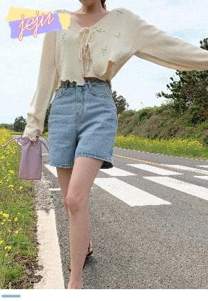 Denim shorts on a warm day