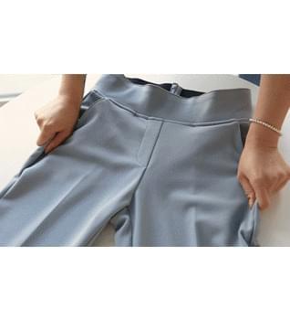 Good Pants 119 Tan / Tummy Cover Banding Slacks #76168