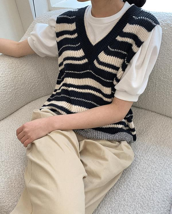 Marvel Stripe Knitwear Vest