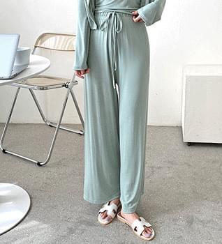Clean Daily Cardigan & Sleeveless & Pants Set #96033