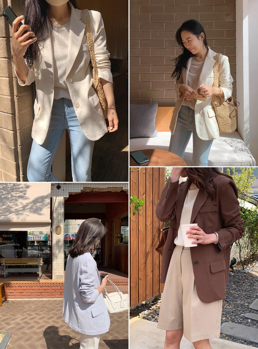 《Planned Product》 Linen Standard Fit Single Jacket