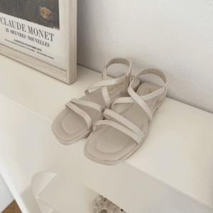 Diagonal strap banding sandals 1.5 cm