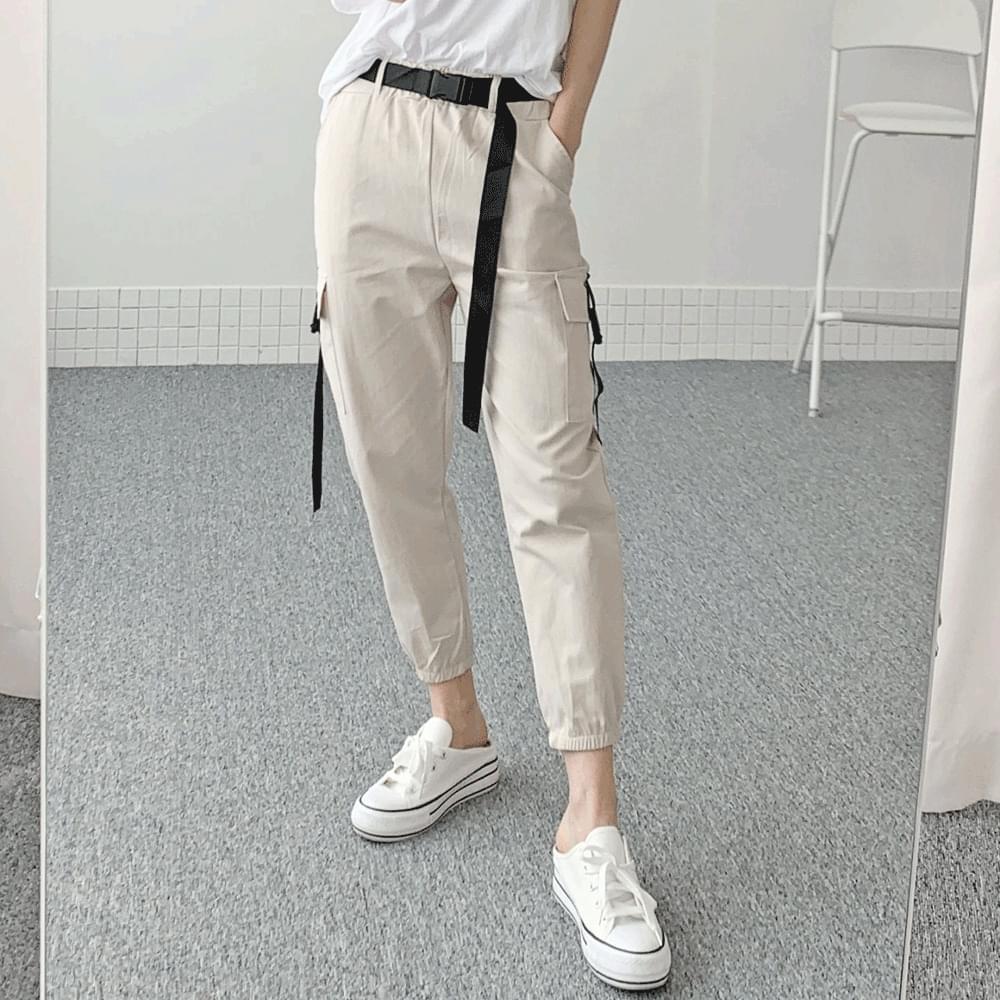 Cargo slim jogger pants