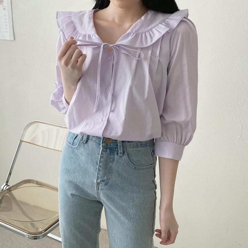 Rosie frill collar blouse