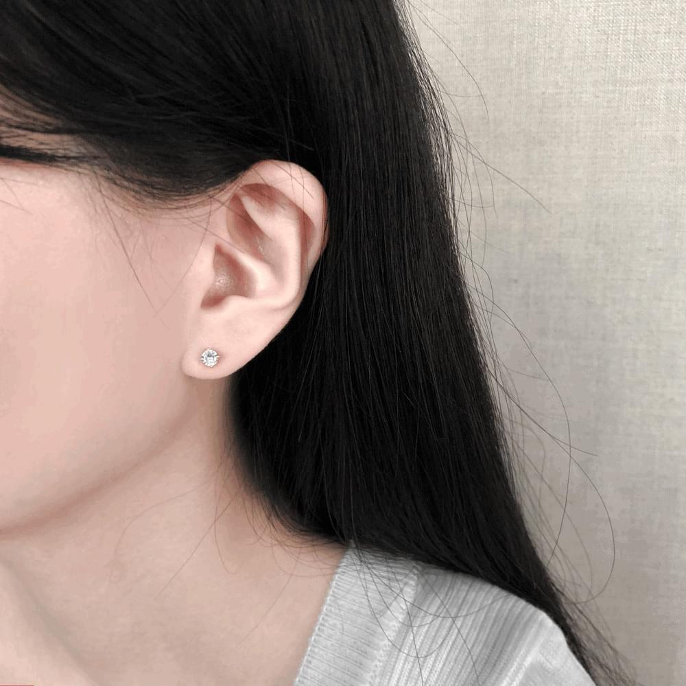 92.5 silver mini cubic earrings