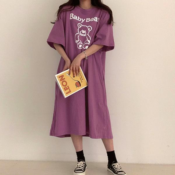 Overfit Bear Short Sleeve Dress