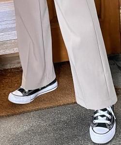 Dart High Waist Straight Long Slacks