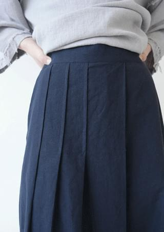 linen skirt type pleats pants