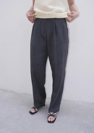natural linen pintuck slacks
