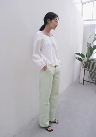 light dying cotton pants