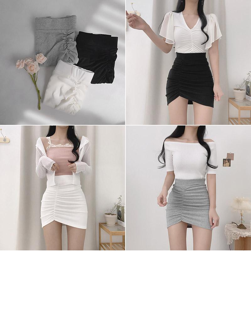 Sind shirred slim skirt
