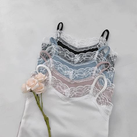 Portrait lace Sleeveless