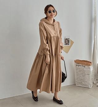 Hooded Long Cancan Dress #37882