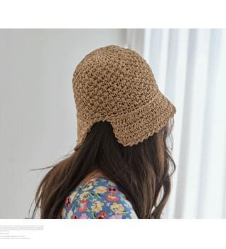 Straw Tulip Bungalow Hat #86507