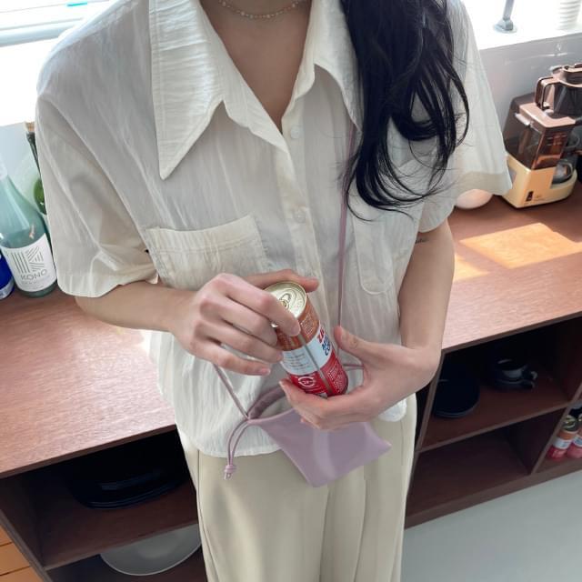 Valen Wide Collar Short Sleeve Shirt