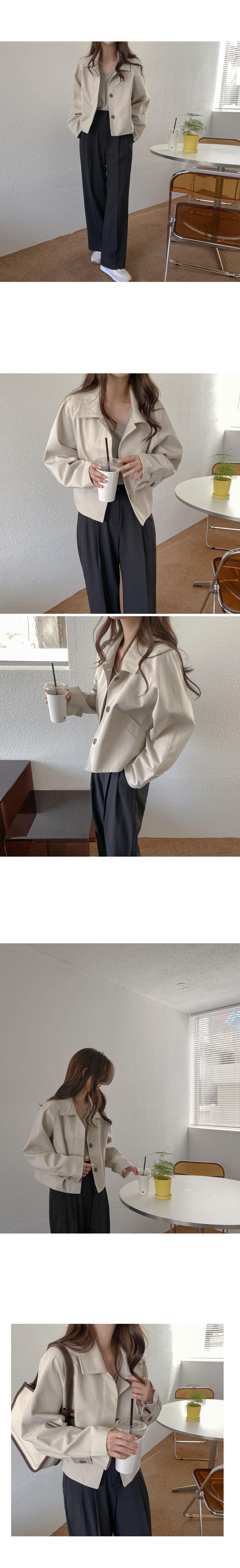 Snack Hidden Cotton Short Jacket
