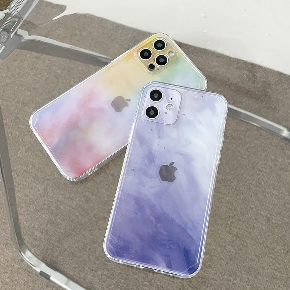 Pastel Paint Full Cover iPhone Case