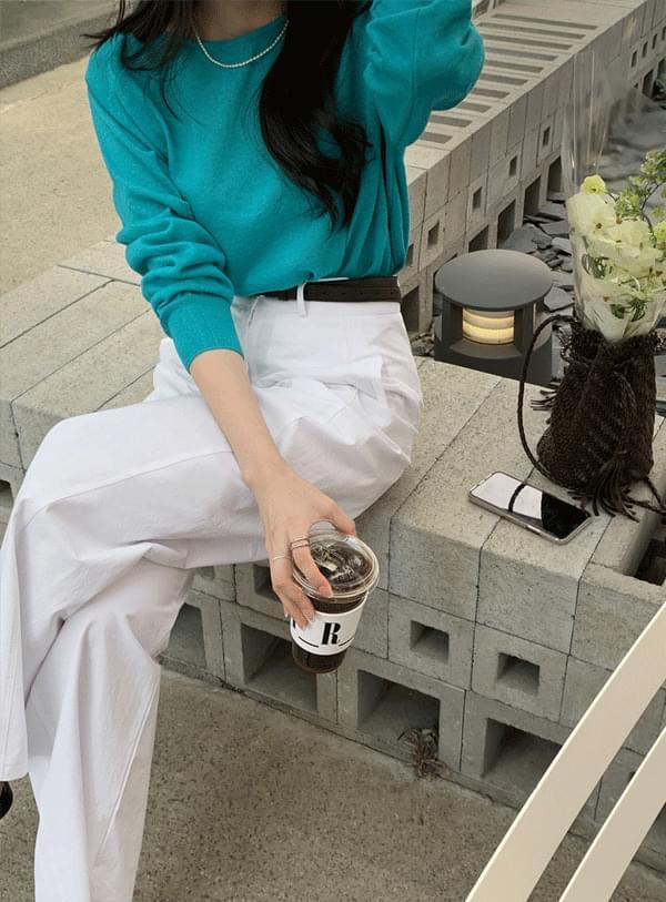 韓國空運 - Round wide pants 長褲