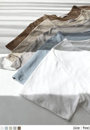 Linen Blend Loose T-Shirt