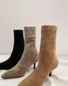 Suede Socks heel