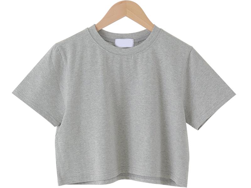 Market cropped short-sleeved T-shirt