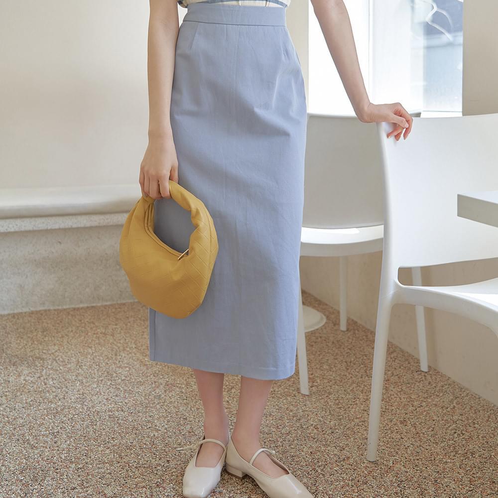 Modern cotton long skirt