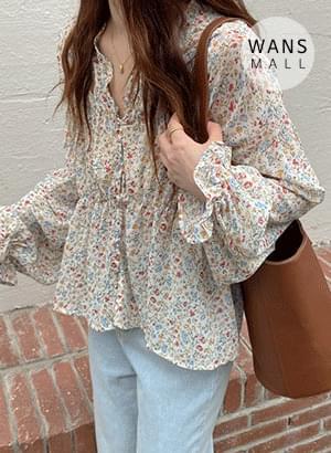 bl4347 brid frill flower blouse