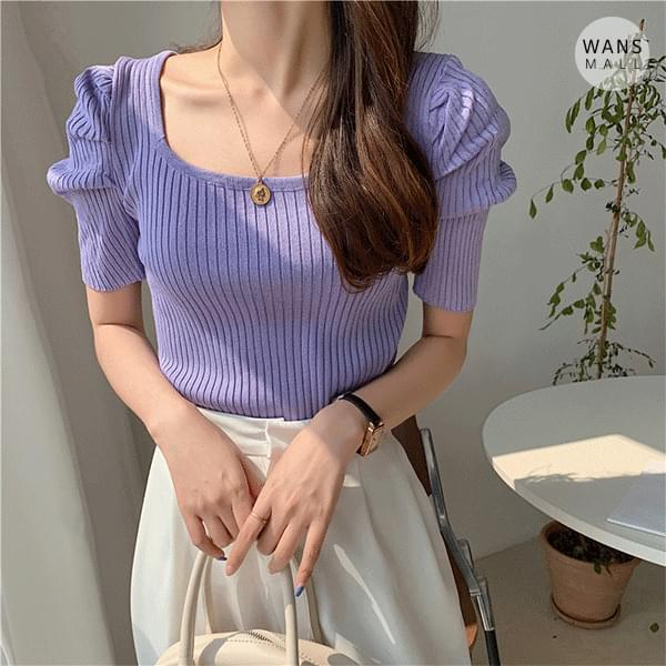 kn4200 Pulse Shoulder Puff Short Sleeve Knitwear (Delayed delivery)