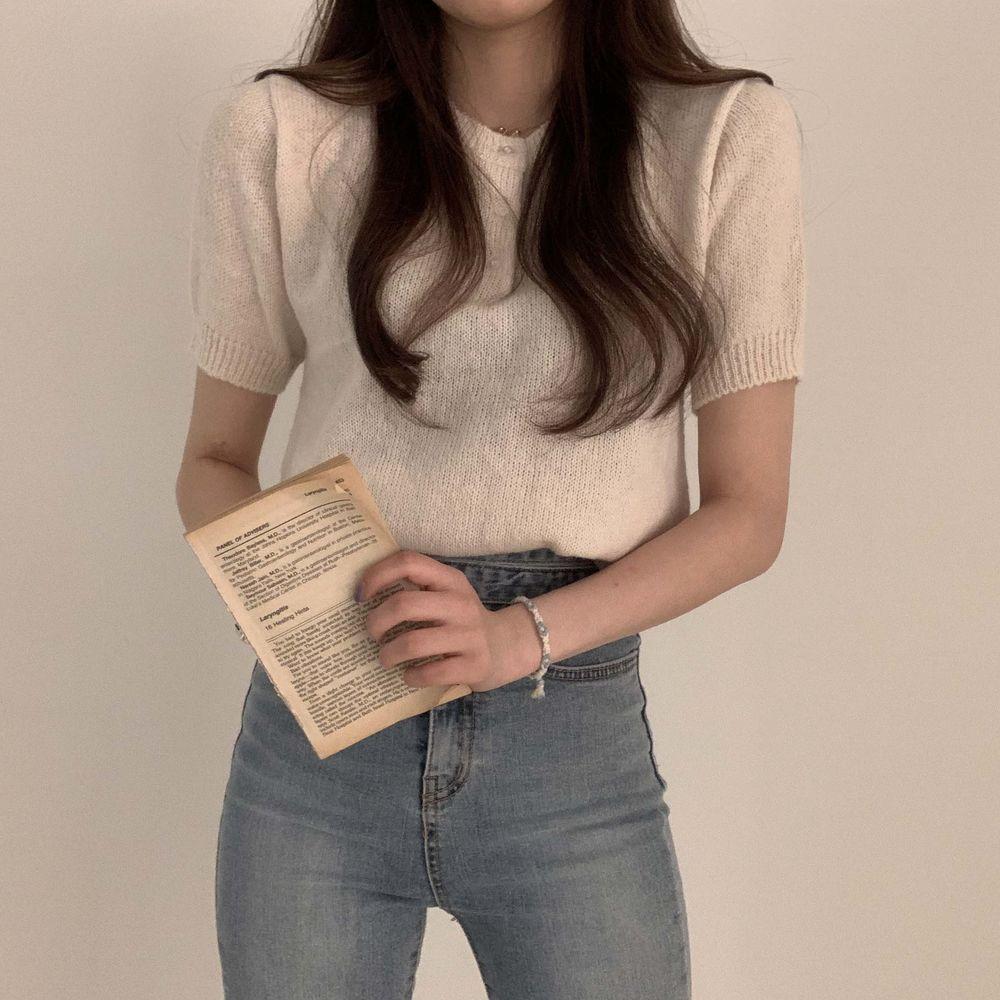 Buttoncock Short Sleeve Knitwear