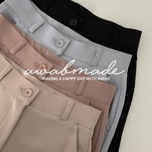 Gaborone Flared slacks (ver. Secret banding / 4color)
