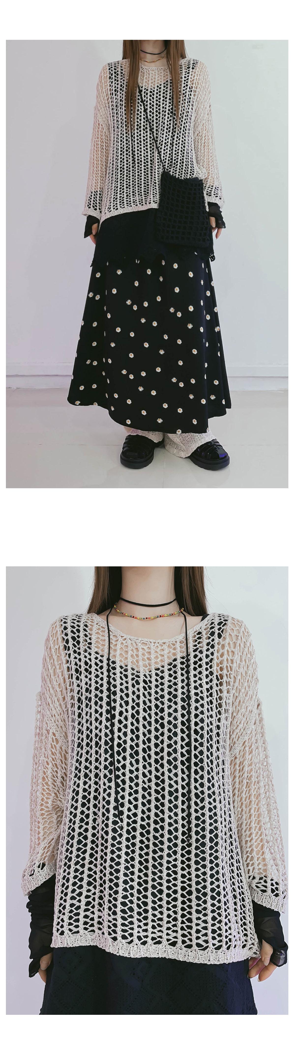 Loose-fit Diet Net Knitwear
