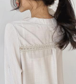 Lace Line V Neck Blouse #47847